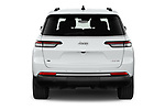 Straight rear view of 2021 JEEP Grand-Cherokee-L Limited 5 Door SUV Rear View  stock images