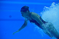 Canada's Jennifer Abel underwater during the practice session<br /> <br /> Photographer Hannah Fountain/CameraSport<br /> <br /> FINA/CNSG Diving World Series 2019 - Day 3 - Sunday 19th May 2019 - London Aquatics Centre - Queen Elizabeth Olympic Park - London<br /> <br /> World Copyright © 2019 CameraSport. All rights reserved. 43 Linden Ave. Countesthorpe. Leicester. England. LE8 5PG - Tel: +44 (0) 116 277 4147 - admin@camerasport.com - www.camerasport.com