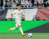 Foxborough, Massachusetts - May 30, 2018: In a Major League Soccer (MLS) match, New England Revolution (blue/white) tied Atlanta United FC (white), 1-1, at Gillette Stadium.