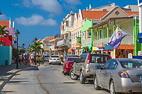 Kralendijk, Bonaire, Leeward Antilles.  Kaya Grandi Street Scene.