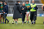 Brian Ó Beaglaoich, Kerry and Kerry Manager Peter Keane after the Allianz Football League Division 1 South between Kerry and Dublin at Semple Stadium, Thurles on Sunday.