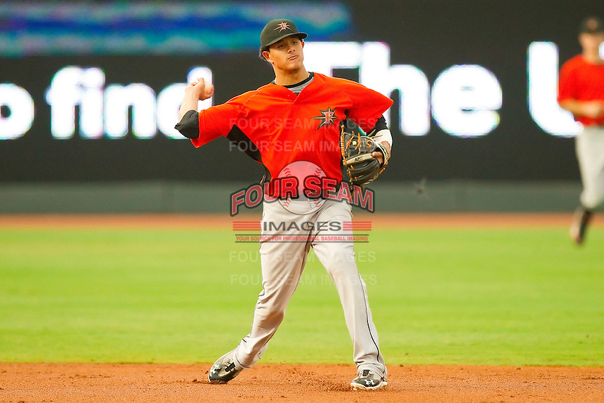 Shortstop Manny Machado #3 of the Frederick Keys makes a throw to first base against the Winston-Salem Dash at BB&T Ballpark on August 5, 2011 in Winston-Salem, North Carolina.  The Dash defeated the Keys 10-0.   Brian Westerholt / Four Seam Images