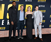 "LOS ANGELES, CA: 27, 2020: Winston Duke, Peter Berg, Iliza Shlesinger & Mark Wahlberg  at the world premiere of ""Spenser Confidential"" at the Regency Village Theatre.<br /> Picture: Paul Smith/Featureflash"