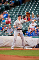 Colorado Springs Sky Sox first baseman Garrett Cooper (30) during a game against the Oklahoma City Dodgers on June 2, 2017 at Chickasaw Bricktown Ballpark in Oklahoma City, Oklahoma.  Colorado Springs defeated Oklahoma City 1-0 in ten innings.  (Mike Janes/Four Seam Images)