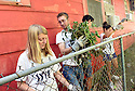 Tulane students Louisa Collins, Jeresun Atkin, Chad Costa and Brooke Hanraty clear an alley and fence while volunteering with South Seventh Ward Neighbors, 2016.