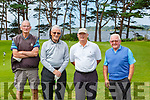 Brendan Campbell Maine VAlley, Ollie Kearns Ballybunion,  Steve Carroll Ceann Sibheal, and John Breen Dooks at the Donal Walsh Kerry Corporate Golf Tournament in aid of Cancer Research at Crumlin Hospital in Killarney Golf Course on Friday