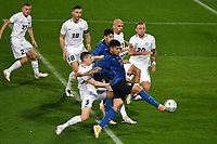Artur Pikk of Estonia and Giovanni Di Lorenzo of Italy compete for the ball during the friendly football match between Italy and Estonia at Artemio Franchi Stadium in Firenze (Italy), November, 11th 2020. Photo Andrea Staccioli/ Insidefoto
