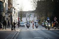 Jasper Stuyven (BEL/Trek Factory-Segafredo) pulling a 16 kilometre solo to the finish<br /> <br /> Kuurne-Brussel-Kuurne 2016