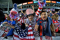 Carson, Ca-January 22, 2010: Fans of the USA men's national team during a 1-1 tie with Chile at the Home Depot Center in Carson, California.