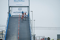 coming off the bridge at 50km/h<br /> <br /> UCI 2021 Cyclocross World Championships - Ostend, Belgium<br /> <br /> U23 Men's Race<br /> <br /> ©kramon