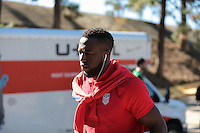 San Diego, CA - Sunday January 29, 2017: Jozy Altidore prior to an international friendly between the men's national teams of the United States (USA) and Serbia (SRB) at Qualcomm Stadium.