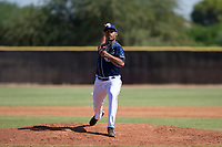 San Diego Padres pitcher Ronald Bolanos (77) delivers a pitch to the plate during an Instructional League game against the Milwaukee Brewers on September 27, 2017 at Peoria Sports Complex in Peoria, Arizona. (Zachary Lucy/Four Seam Images)