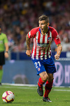 Lucas Hernandez of Atletico de Madrid runs with the ball during the La Liga 2018-19 match between Atletico de Madrid and Rayo Vallecano at Wanda Metropolitano on August 25 2018 in Madrid, Spain. Photo by Diego Souto / Power Sport Images