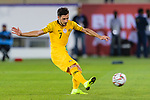 Mathew Leckie of Australia scores their sides winning penalty in the penalty shoot out during the AFC Asian Cup UAE 2019 Round of 16 match between Australia (AUS) and Uzbekistan (UZB) at Khalifa Bin Zayed Stadium on 21 January 2019 in Al Ain, United Arab Emirates. Photo by Marcio Rodrigo Machado / Power Sport Images