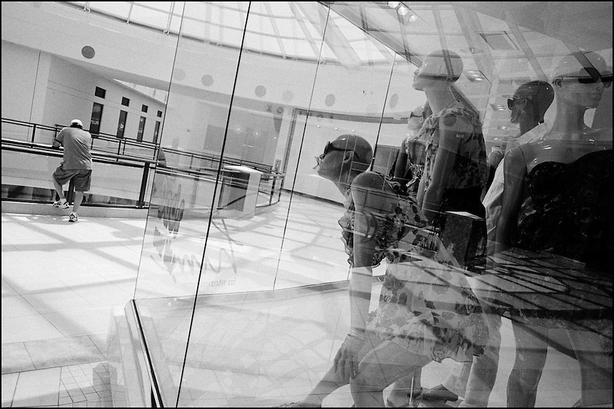 "Aventura mall<br /> From ""Miami in Black and White"" series. Aventura, FL, 2009"