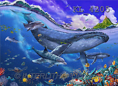 Interlitho, Lorenzo, FANTASY, paintings, whale, dolphins, KL, KL4205,#fantasy# illustrations, pinturas