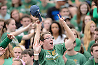 Sept. 19, 2015; ND Stadium student section during the football game against Georgia Tech. (Photo by Matt Cashore)