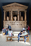Great Britain, England, London: British Museum, Nereid Monument room, Lycian Tomb built for Erbinna, ruler of Lycian Xanthos in South West Turkey