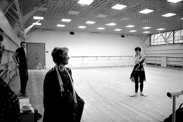 St. Petersburg, Russia  .1998.Ballet dancer Ylyana Lopatkina practices with her instructor Kurgapkina who is severe and critical of even her slightest movements. Ylyana is her own worse and intense critic. She works to prefect every performance at the Mariinsky Theater..