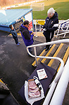 Wine, chocolates and meat are the raffle prizes. Stocksbridge Park Steels v Pickering Town, Evo-Stik East Division, 17th November 2018. Stocksbridge Park Steels were born from the works team of the local British Steel plant that dominates the town north of Sheffield.<br /> Having missed out on promotion via the play offs in the previous season, Stocksbridge were hovering above the relegation zone in Northern Premier League Division One East, as they lost 0-2 to Pickering Town. Stocksbridge finished the season in 13th place.
