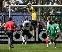 Tim Howard. USA Men's National Team loses to Mexico 2-1, August 12, 2009 at Estadio Azteca, Mexico City, Mexico. .   .
