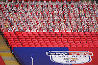 Cardboard cut out spectators during the Sky Bet League 2 PLAY-OFF Final match between Exeter City and Northampton Town at Wembley Stadium, London, England on 29 June 2020. Photo by Andy Rowland.