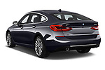 Car pictures of rear three quarter view of a 2018 BMW 6 Series Gran Turismo Luxury 5 Door Hatchback angular rear