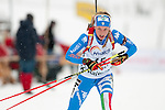MARTELL-VAL MARTELLO, ITALY - FEBRUARY 02: SANFILIPPO Federica (ITA) during the Women 7.5 km Sprint at the IBU Cup Biathlon 6 on February 02, 2013 in Martell-Val Martello, Italy. (Photo by Dirk Markgraf)