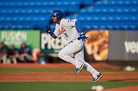 St. Lucie Mets second baseman Luis Carpio (11) runs the bases during the first game of a doubleheader against the Charlotte Stone Crabs on April 24, 2018 at First Data Field in Port St. Lucie, Florida.  St. Lucie defeated Charlotte 5-3.  (Mike Janes/Four Seam Images)