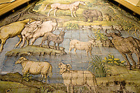 Italien, Capri, Kirche San Michele in Anacapri, Fußbodenbild aus Majolika