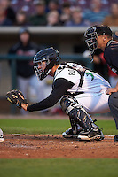 Dayton Dragons catcher Garrett Boulware (30) during a game against the Great Lakes Loons on May 21, 2015 at Fifth Third Field in Dayton, Ohio.  Great Lakes defeated Dayton 4-3.  (Mike Janes/Four Seam Images)