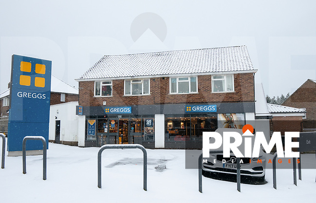 Snow and bad weather hits High Wycombe during the  at  on the 24 January 2021. Photo by Andy Rowland.