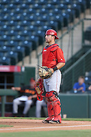 Izaak Silva (8) of the AZL Angels in the field during a game against the AZL Giants at Tempe Diablo Stadium on July 6, 2015 in Tempe, Arizona. Angels defeated the Giants, 3-1. (Larry Goren/Four Seam Images)