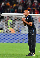 Calcio, Serie A: AS Roma vs SSC Napoli, Olympic stadium, October 24, 2021.<br /> Napoli's coach Luciano Spalletti after receiving a red card at the end of the Italian Serie A football match between Roma and Napoli at Rome's Olympic stadium, on , October 24, 2021. <br /> UPDATE IMAGES PRESS/Isabella Bonotto