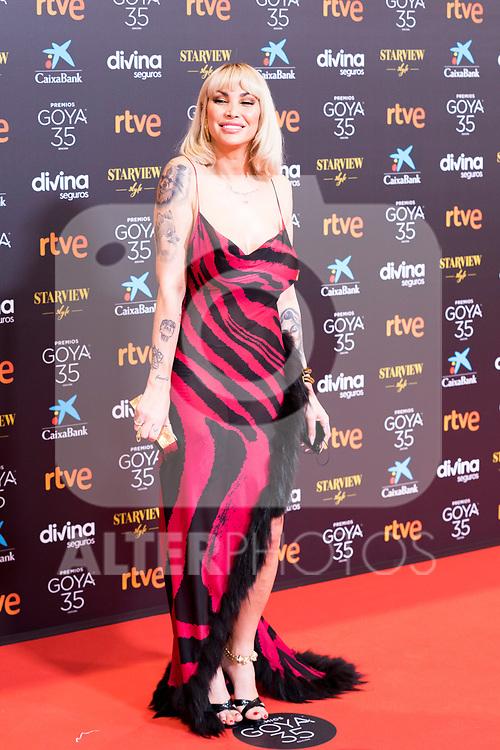 Actress Daniela Santiago attends the red carpet previous to Goya Awards 2021 Gala in Malaga . March 06, 2021. (Alterphotos/Francis González)
