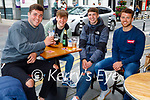 Enjoying the afternoon in Killarney on Monday, l to r: Killian O'Regan, Michael Potts, Andrew Kennelly and Killian Moran.