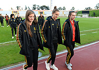20190304 - LARNACA , CYPRUS :  Belgian Shari Van Belle ,  Chloe Vande Velde and Jody Vangheluwe (r) pictured during a women's soccer game between Nigeria and the Belgian Red Flames , on Monday 4 th March 2019 at the GSZ Stadium in Larnaca , Cyprus . This is the third and last game in group C for both teams during the Cyprus Womens Cup 2019 , a prestigious women soccer tournament as a preparation on the Uefa Women's Euro 2021 qualification duels. PHOTO SPORTPIX.BE | DAVID CATRY
