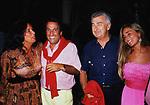 EMILIO FEDE CON DIANA DE FEO, LA FIGLIA SIMONA E UMBERTO MARZOTTO<br /> MATRIMONIO SIMONA FEDE E VITTORIO MARZOTTO - CAPRI 1986