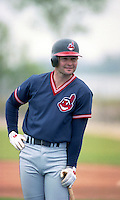 Cleveland Indians Mark Lewis (20) during Spring Training 1993 at Chain of Lakes Park in Winter Haven, Florida.  (MJA/Four Seam Images)