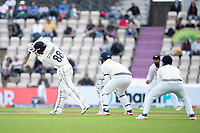 Devon Conway, New Zealand drives straight during India vs New Zealand, ICC World Test Championship Final Cricket at The Hampshire Bowl on 20th June 2021