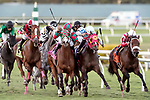 HALLANDALE BEACH, FL - FEB 17:Sinatra #3 trained by Jorge Navarro with Irad Ortiz, Jr. in the irons wins the $50,000 Little Magician Claiming Stakes at Gulfstream Park on February 17, 2018 in Hallandale Beach, Florida. (Photo by Bob Aaron/Eclipse Sportswire/Getty Images)