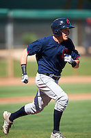Cleveland Indians Connor Capel (20) during an Instructional League game against the Los Angeles Dodgers on October 10, 2016 at the Camelback Ranch Complex in Glendale, Arizona.  (Mike Janes/Four Seam Images)