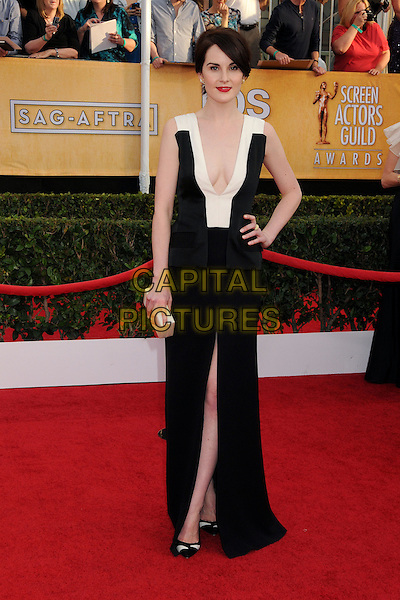18 January 2014 - Los Angeles, California - Michelle Dockery. 20th Annual Screen Actors Guild Awards - Arrivals held at The Shrine Auditorium. Photo Credit: Byron Purvis/AdMedia<br /> CAP/ADM/BP<br /> ©Byron Purvis/AdMedia/Capital Pictures