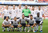USA starting eleven during a World Cup Qualifying match at Rio Tinto Stadium, in Sandy, Utah, Friday, September 5, 2009.  .The USA won 2-1..