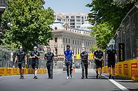3rd June 2021; Baku, Azerbaijan;  OCON Esteban (fra), Alpine F1 A521 trackwalk during the Formula 1 Azerbaijan Grand Prix 2021 at the Baku City Circuit, in Baku, Azerbaijan