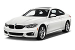2020 BMW 4-Series 440i-M-Sport Door Coupe Angular Front stock photos of front three quarter view