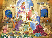 Randy, HOLY FAMILIES, HEILIGE FAMILIE, SAGRADA FAMÍLIA, paintings+++++Glorious-Nativity,USRW98,#xr#