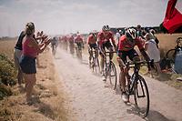 Vincenzo Nibali (ITA/Bahrain-Merida) on pavé sector #6<br /> <br /> Stage 9: Arras Citadelle > Roubaix (154km)<br /> <br /> 105th Tour de France 2018<br /> ©kramon