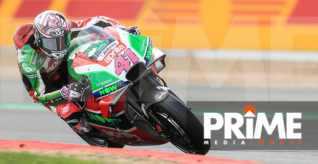 Aleix Espargaro (41) of the Aprilia Racing Team Gresini race team during the GoPro British MotoGP at Silverstone Circuit, Towcester, England on 24 August 2018. Photo by Chris Brown / PRiME Media Images