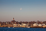 Abbot Hall over Marblehead Harbor at sunrise, Marblehead, MA, USA